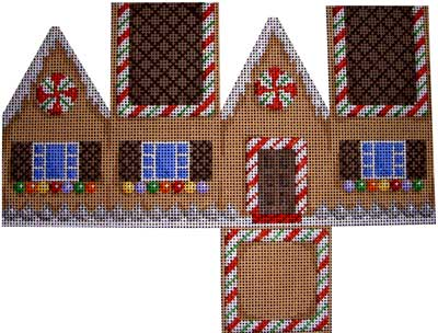 click here to view larger image of Gingerbread Cottage - Chocolate Roof (hand painted canvases)