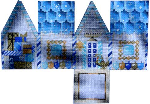 click here to view larger image of Hanukkah Cottage (hand painted canvases)