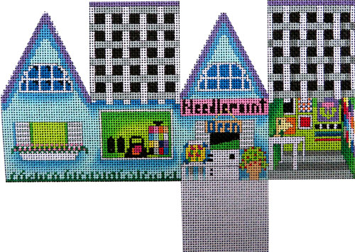 click here to view larger image of Needlepoint Store Cottage (hand painted canvases)