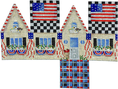 click here to view larger image of Americana Cottage (hand painted canvases)