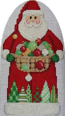 click here to view larger image of Ornaments / Trees Santa (hand painted canvases)