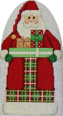 click here to view larger image of Gifts / Plaid Santa (hand painted canvases)