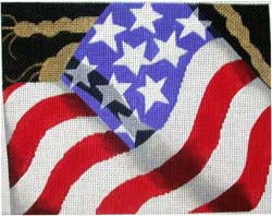 click here to view larger image of Flag Pillow (hand painted canvases)