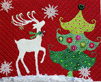 click here to view larger image of Reindeer with Tree (hand painted canvases)