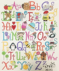 click here to view larger image of Upper & Lower Case Alphabet (hand painted canvases)