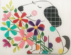 click here to view larger image of Fur and Flowers (hand painted canvases)