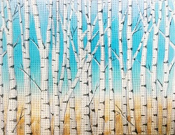click here to view larger image of Birch Trees (hand painted canvases)