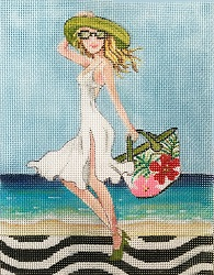 Beach Attire hand painted canvases