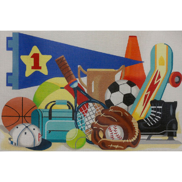 click here to view larger image of Sports (hand painted canvases)