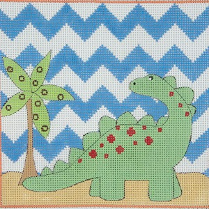 click here to view larger image of Green Brontosaurus (hand painted canvases)