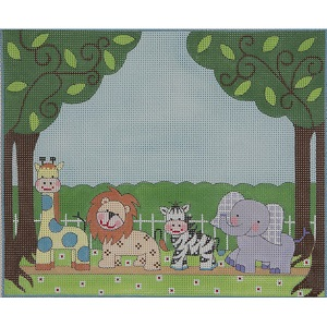 click here to view larger image of Animal Parade II (hand painted canvases)