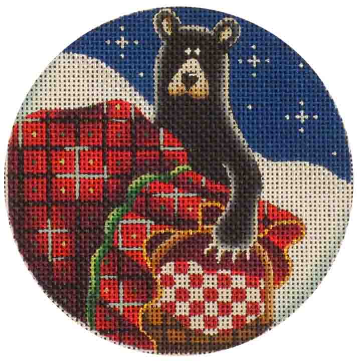 click here to view larger image of Christmas Basket (hand painted canvases)
