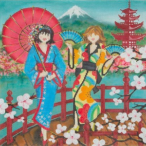 click here to view larger image of Girls In Japan (hand painted canvases)