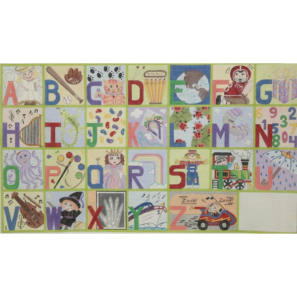 click here to view larger image of Upper Case Alphabet (hand painted canvases)