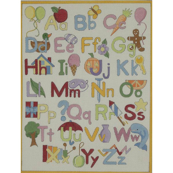 click here to view larger image of Upper and Lower Alphabet (hand painted canvases)