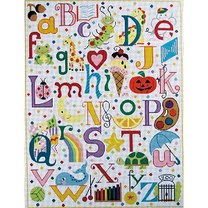 click here to view larger image of Multi Colored Alphabet (hand painted canvases)
