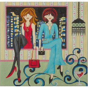 click here to view larger image of Girls Night Out (hand painted canvases)