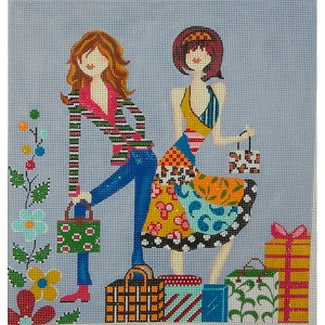 click here to view larger image of Let's Go Shopping (hand painted canvases)