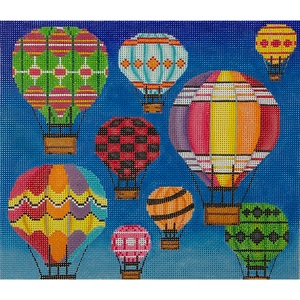 click here to view larger image of Hot Air Balloons in Flight (hand painted canvases)