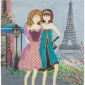 click here to view larger image of Girls in Paris (hand painted canvases)