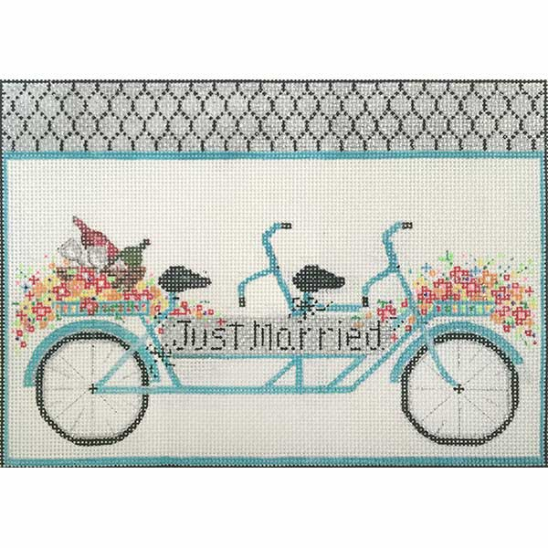click here to view larger image of Just Married Bike (hand painted canvases)