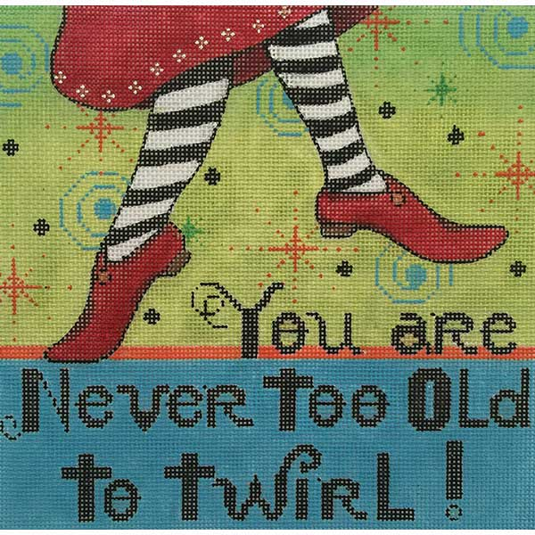 click here to view larger image of Never Too Old (hand painted canvases)