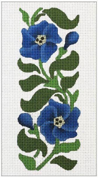 click here to view larger image of Blue Flower EGC (hand painted canvases)