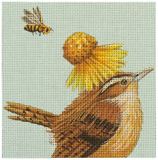 Birds and Bees hand painted canvases