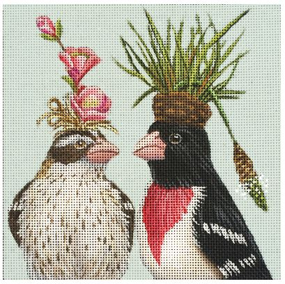 click here to view larger image of Two Birds Talking (hand painted canvases)