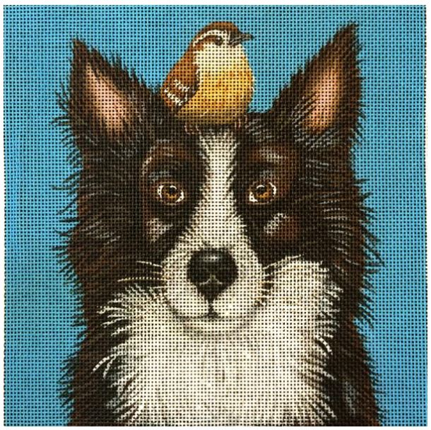 click here to view larger image of Luther and Pip (Border Collie) (hand painted canvases)