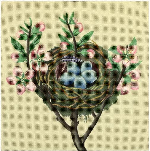 click here to view larger image of Floral Bird Nest (hand painted canvases)