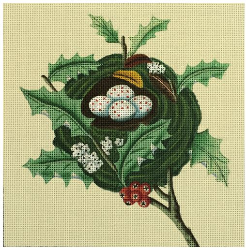 click here to view larger image of Holly Bird Nest (hand painted canvases)