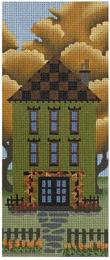 click here to view larger image of Green Autumn House (hand painted canvases)