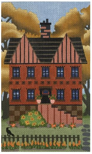 click here to view larger image of Red Autumn House (hand painted canvases)