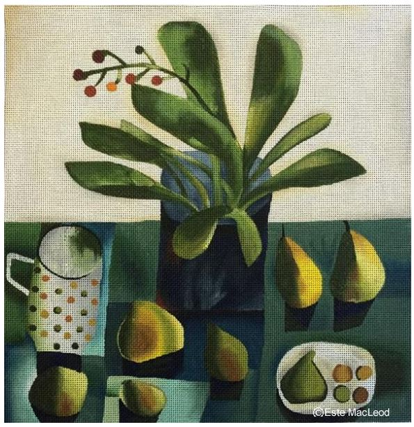 click here to view larger image of Pears and Figs (hand painted canvases)