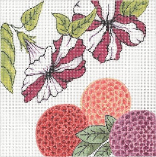 click here to view larger image of Petunia Mini (hand painted canvases)