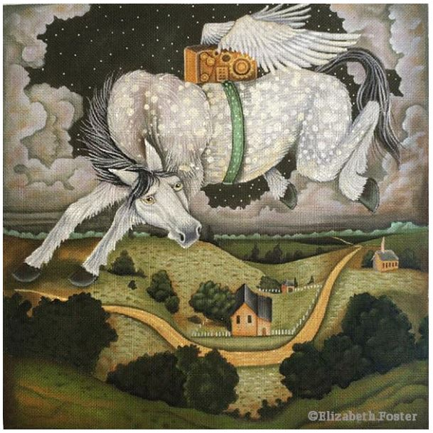 click here to view larger image of Flying Musical Horse (hand painted canvases)
