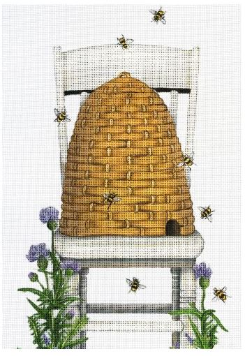 click here to view larger image of Bee Hive Chair (hand painted canvases)