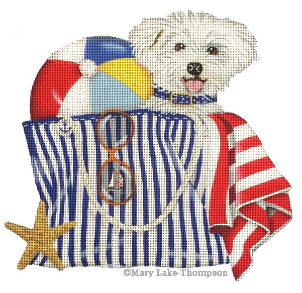 click here to view larger image of Beach Bag (hand painted canvases)
