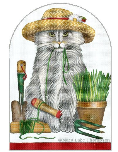 click here to view larger image of Garden Kitty (hand painted canvases)