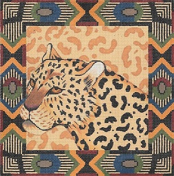 click here to view larger image of Leopard / Tribal Border (hand painted canvases)