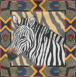 click here to view larger image of Zebra / Tribal Border (hand painted canvases)