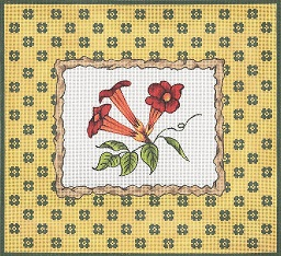 click here to view larger image of Twig Frame – Flame Vine (hand painted canvases)