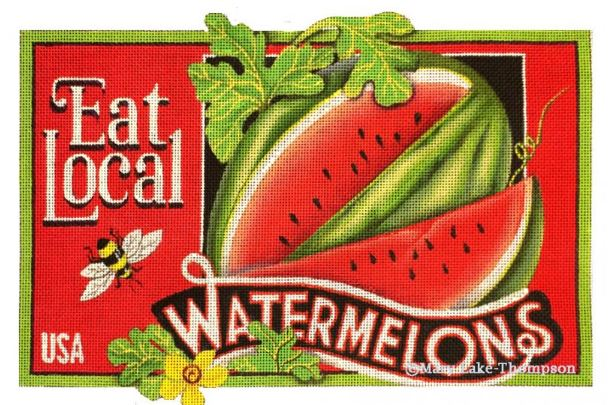 click here to view larger image of Watermelon (hand painted canvases)