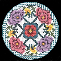 click here to view larger image of Oriental Pillow (hand painted canvases)