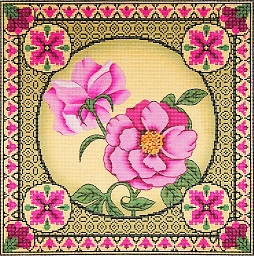 click here to view larger image of Floral Pillow 1 (hand painted canvases)