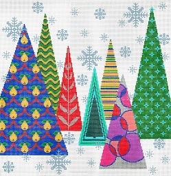 click here to view larger image of Christmas Tree Pillow (hand painted canvases)