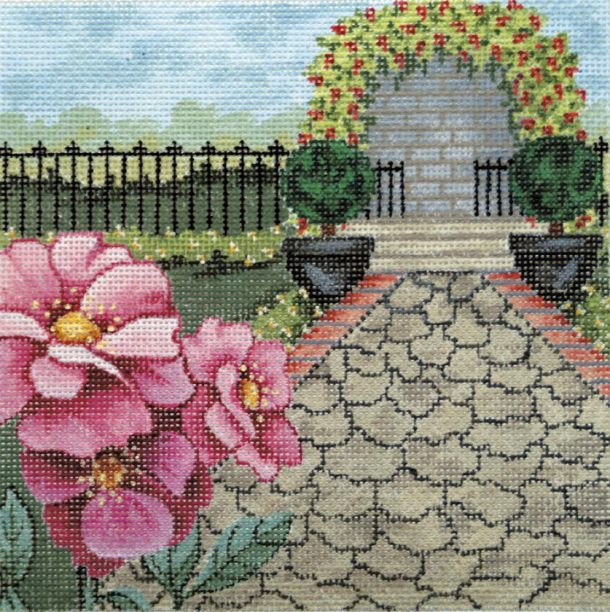 click here to view larger image of Rose Garden 2 (hand painted canvases)