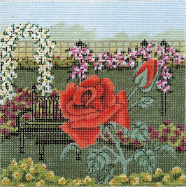 click here to view larger image of Rose Garden 3 (hand painted canvases)