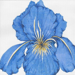 click here to view larger image of Iris Pillow (hand painted canvases)